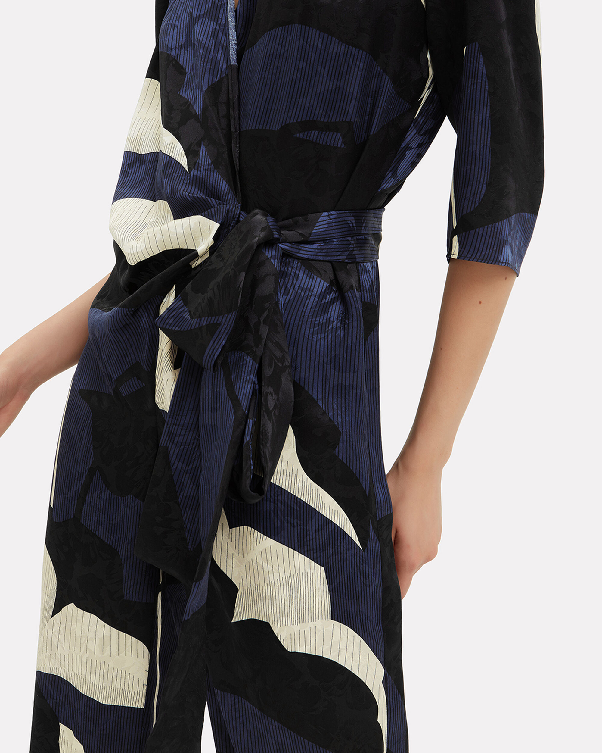 Wrap Jumpsuit, NAVY, hi-res