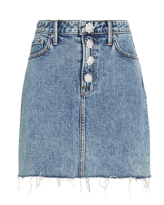 Reese Crystal-Embellished Denim Skirt, DENIM-LT, hi-res