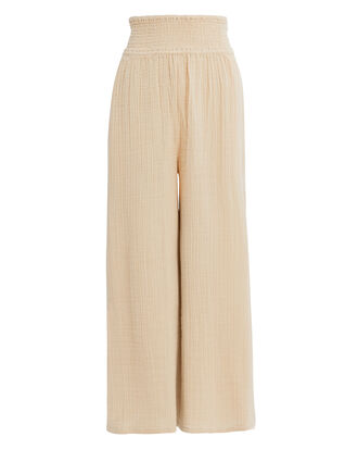 Kai Wide Leg Pants, BEIGE, hi-res