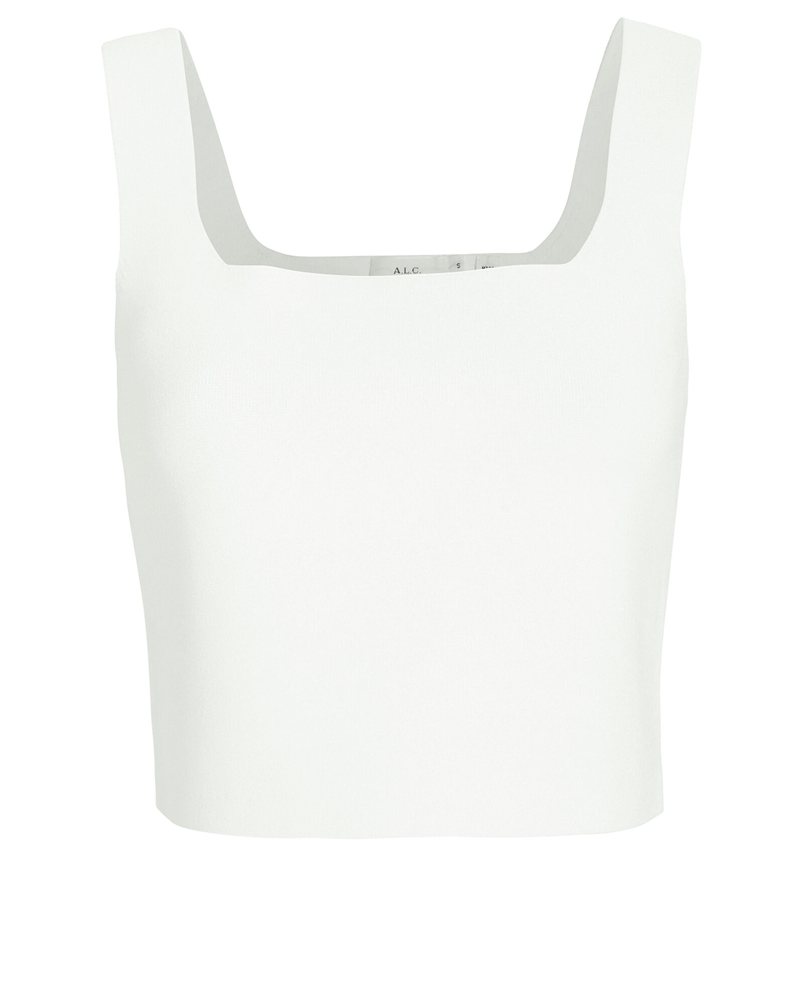 Victoria Knit Tank Top, WHITE, hi-res