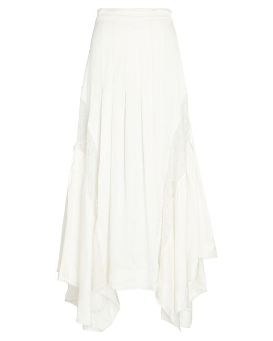 Aje Veil Lace-trimmed Midi Skirt In Ivory