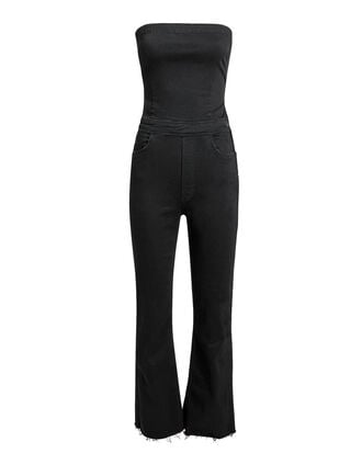 Hustler Tie Back Jumpsuit, BLACK, hi-res