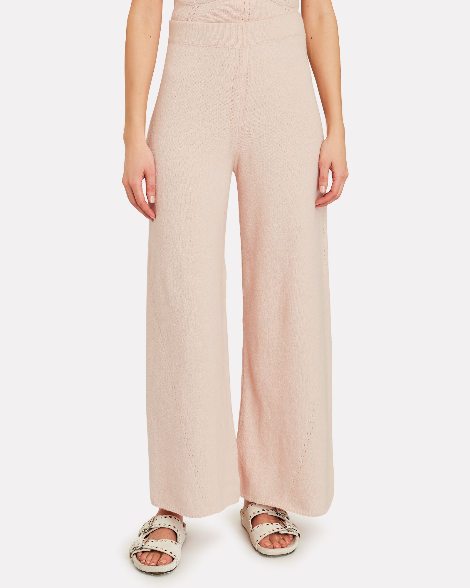 Mitch Knit Flare Pants, IVORY, hi-res