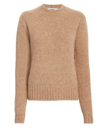 Brushed Wool Sweater, PUMPKIN, hi-res