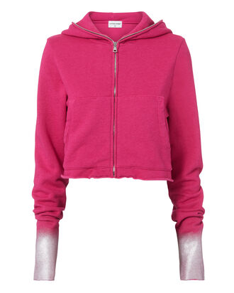 The Manhattan Metallic Cuff Hoodie, PINK-DRK, hi-res