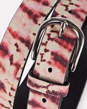 Zap Tie-Dye Leather Belt, RED, hi-res