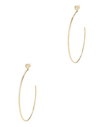 Small Round Hoops, GOLD, hi-res