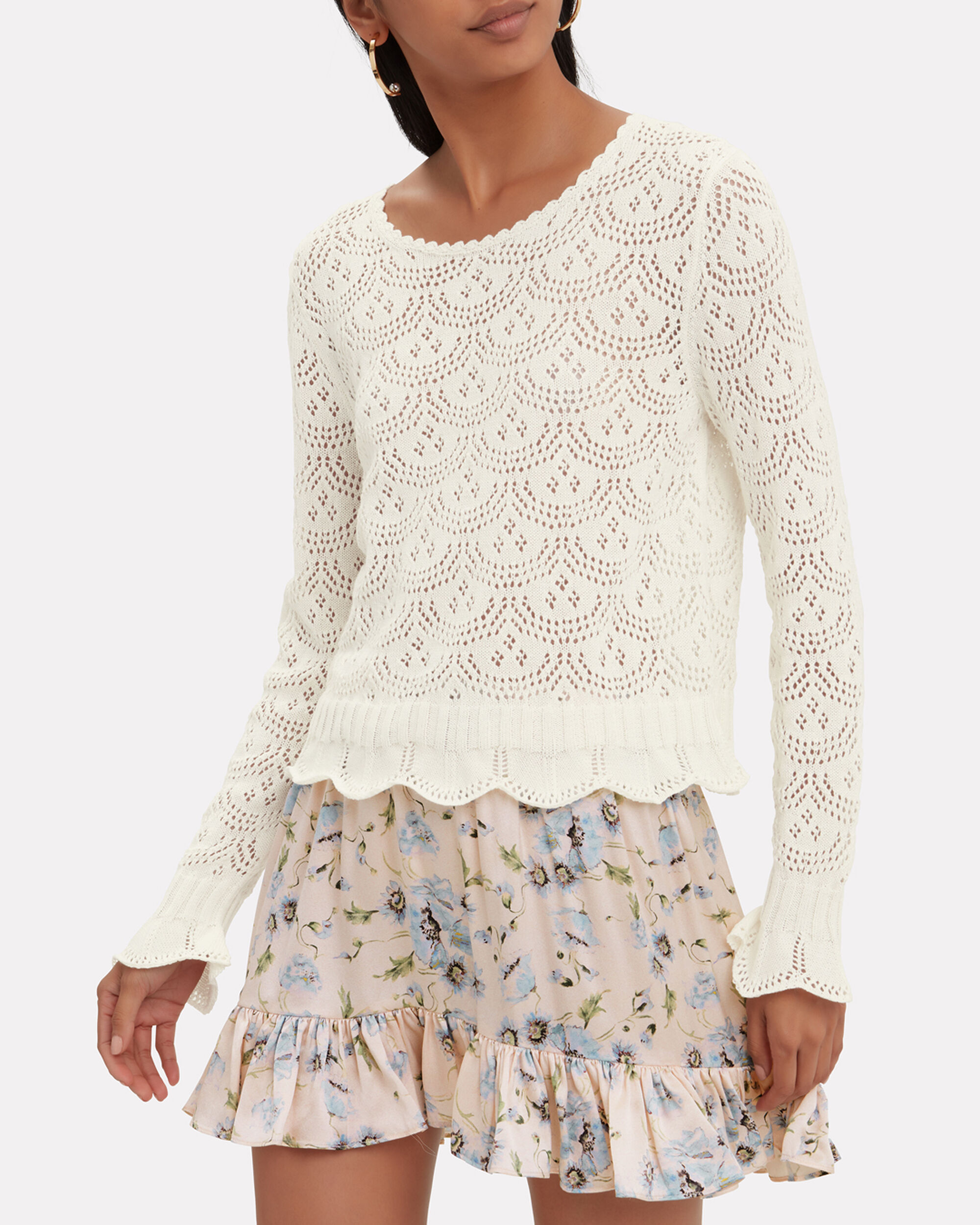 Riley Sweater, WHITE, hi-res