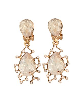 Crystal Drop Earrings, GOLD, hi-res