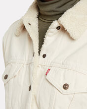 Ex-Boyfriend Sherpa Trucker Jacket, CREAM, hi-res