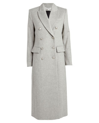 Helmond Dickey Double Breasted Coat, GREY, hi-res