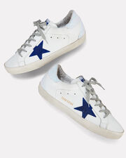 Superstar  Glitter Back Low-Top Sneakers, WHITE, hi-res