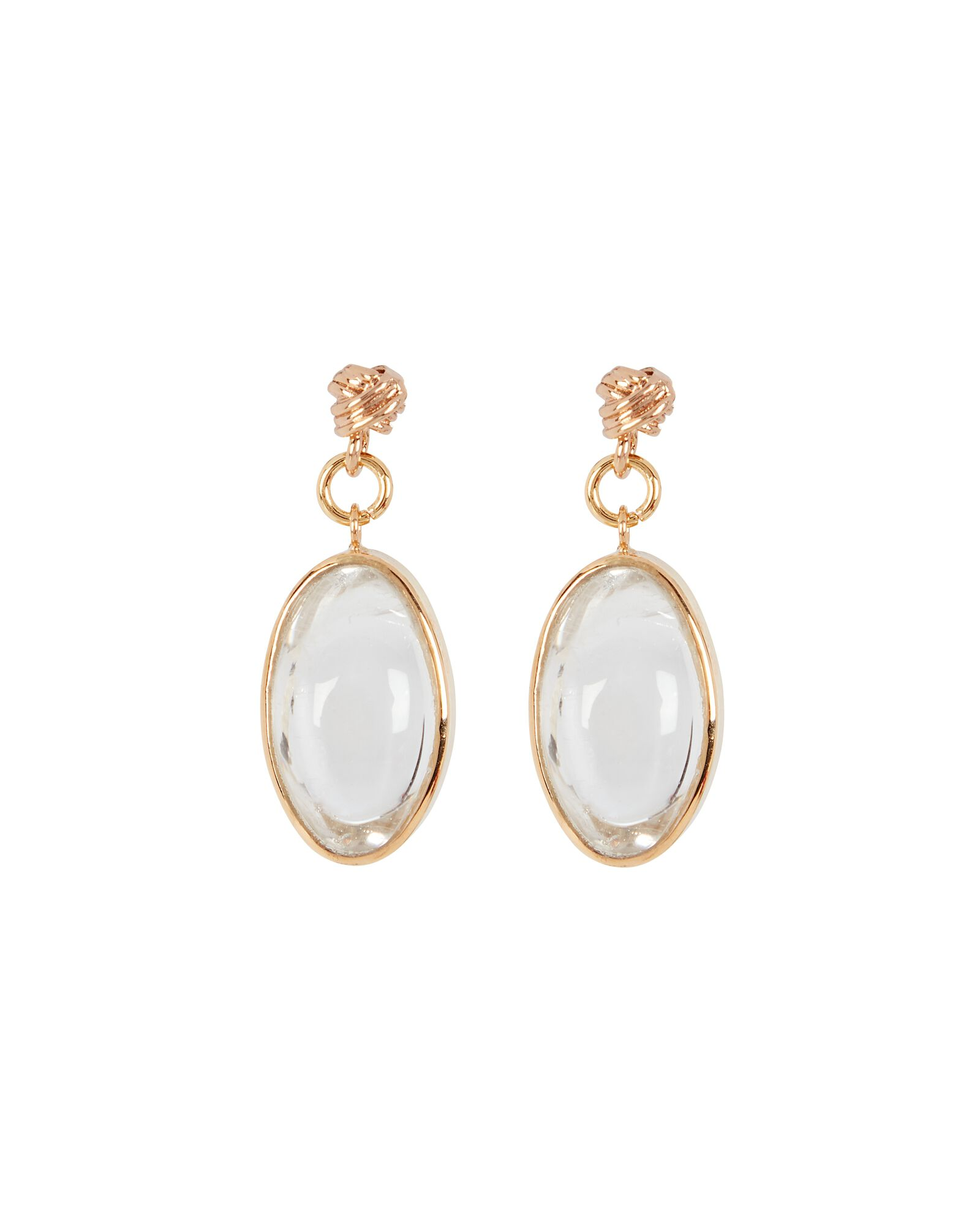 Pure Light Rock Crystal Earrings, GOLD, hi-res