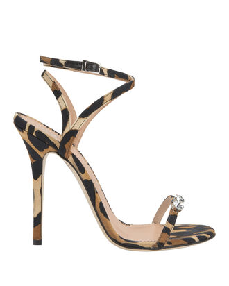 Alien Crystal-Detailed Leopard Sandals, PAT-TREND, hi-res