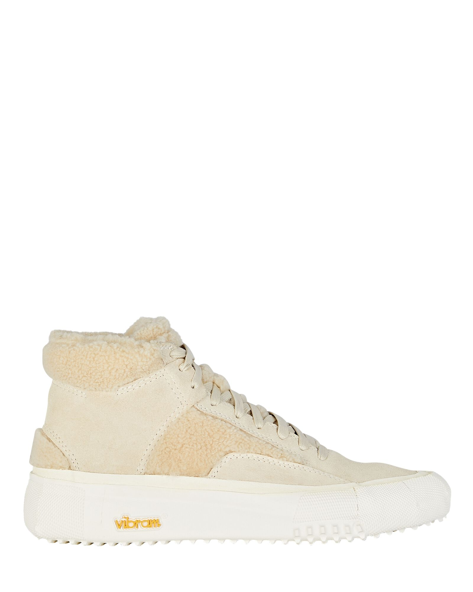 Capo Faux Shearling High-Top Sneakers, IVORY, hi-res