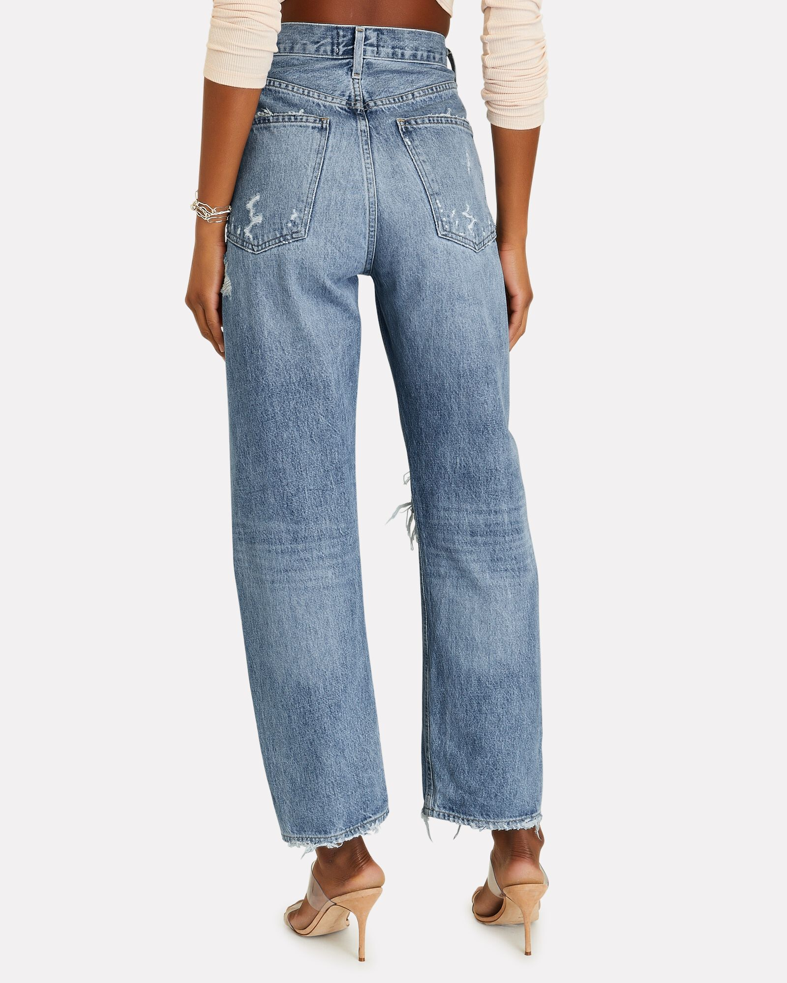 90s Distressed Straight-Leg Jeans, FALLOUT, hi-res