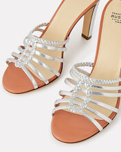 Metallic Braided Leather Sandals, SILVER, hi-res