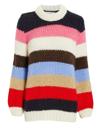 Julliard Striped Sweater, MULTI/STRIPE, hi-res