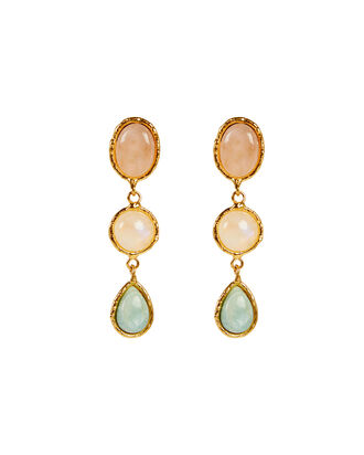 Cascade Stone Drop Earrings, GOLD/QUARTZ, hi-res