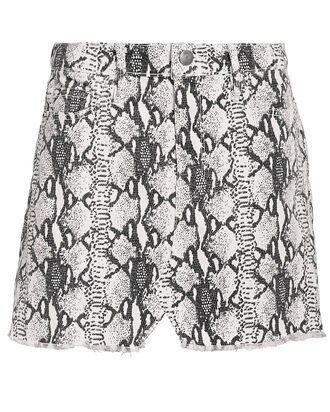 Le Mini Denim Skirt, GREY/PYTHON, hi-res
