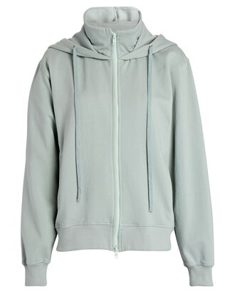 Hooded Zip-Up Sweatshirt, LIGHT GREEN, hi-res