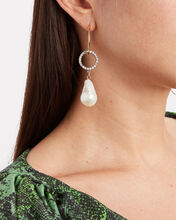 Cardiff Pearl Mismatched Earrings, MULTI, hi-res