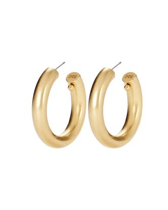 Jumbo Tubular Hoop Earrings, GOLD, hi-res