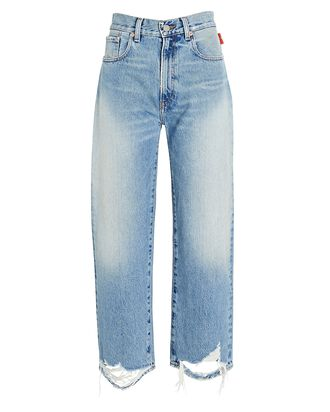 Pierce Distressed High-Rise Jeans, JINX, hi-res
