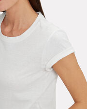 Classic Cropped Jersey T-Shirt, WHITE, hi-res