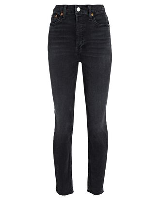 90s High-Rise Ankle Crop Jeans, FADED COAL, hi-res