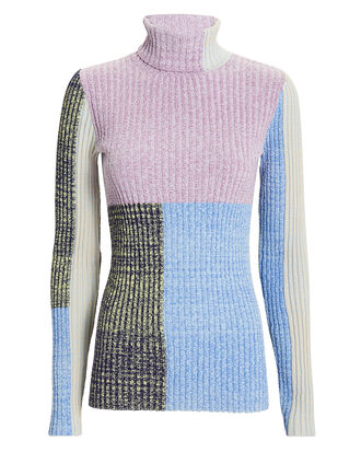 Mixed Marled Patchwork Sweater, MULTI, hi-res