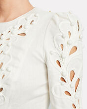 Brightside Rouleaux Linen Bodice, IVORY, hi-res