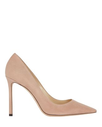 Romy 100 Suede Pumps, BLUSH, hi-res