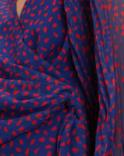 Printed Wrap Top, BLUE/RED, hi-res