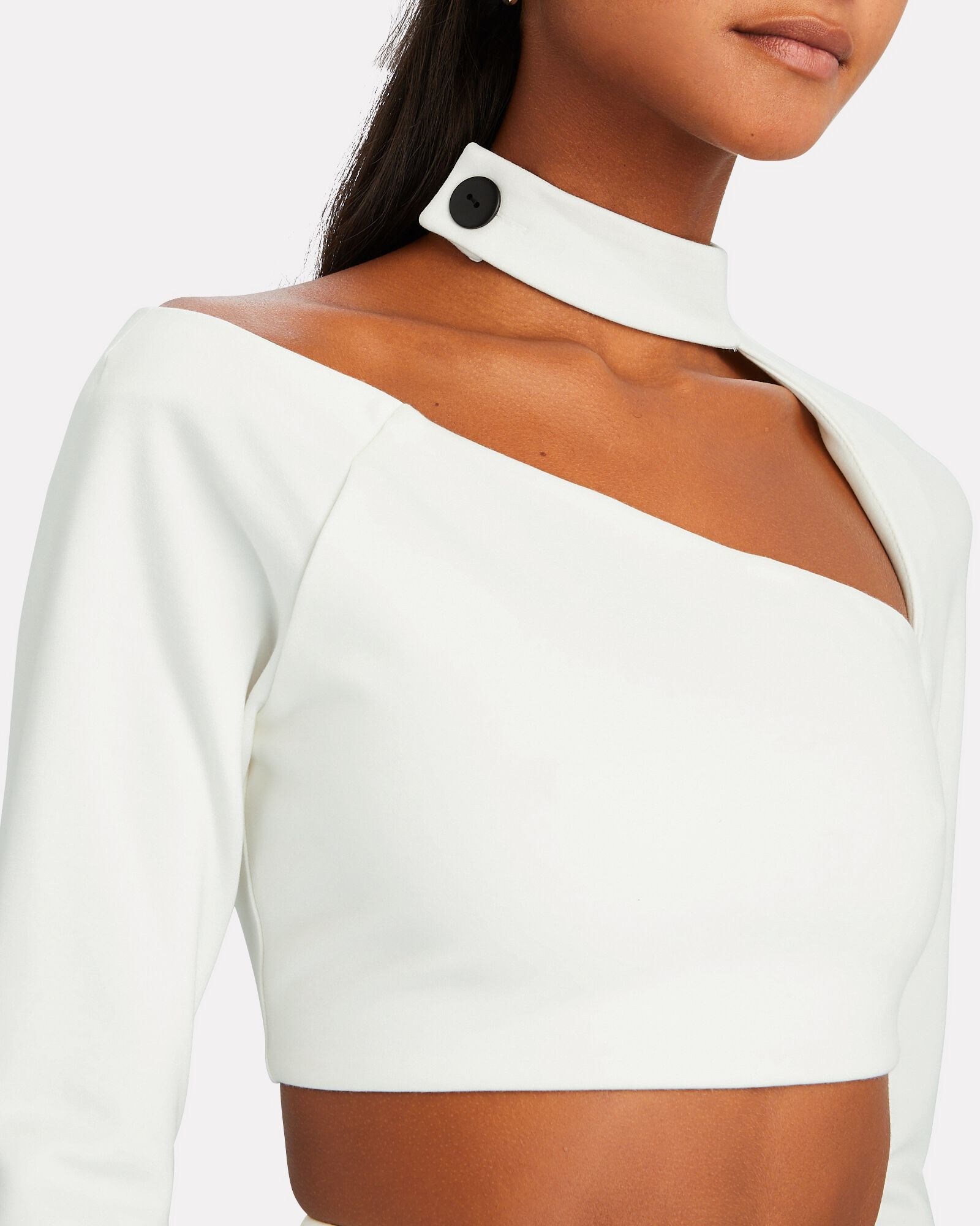 Camryn Cut-Out Crop Top, WHITE, hi-res