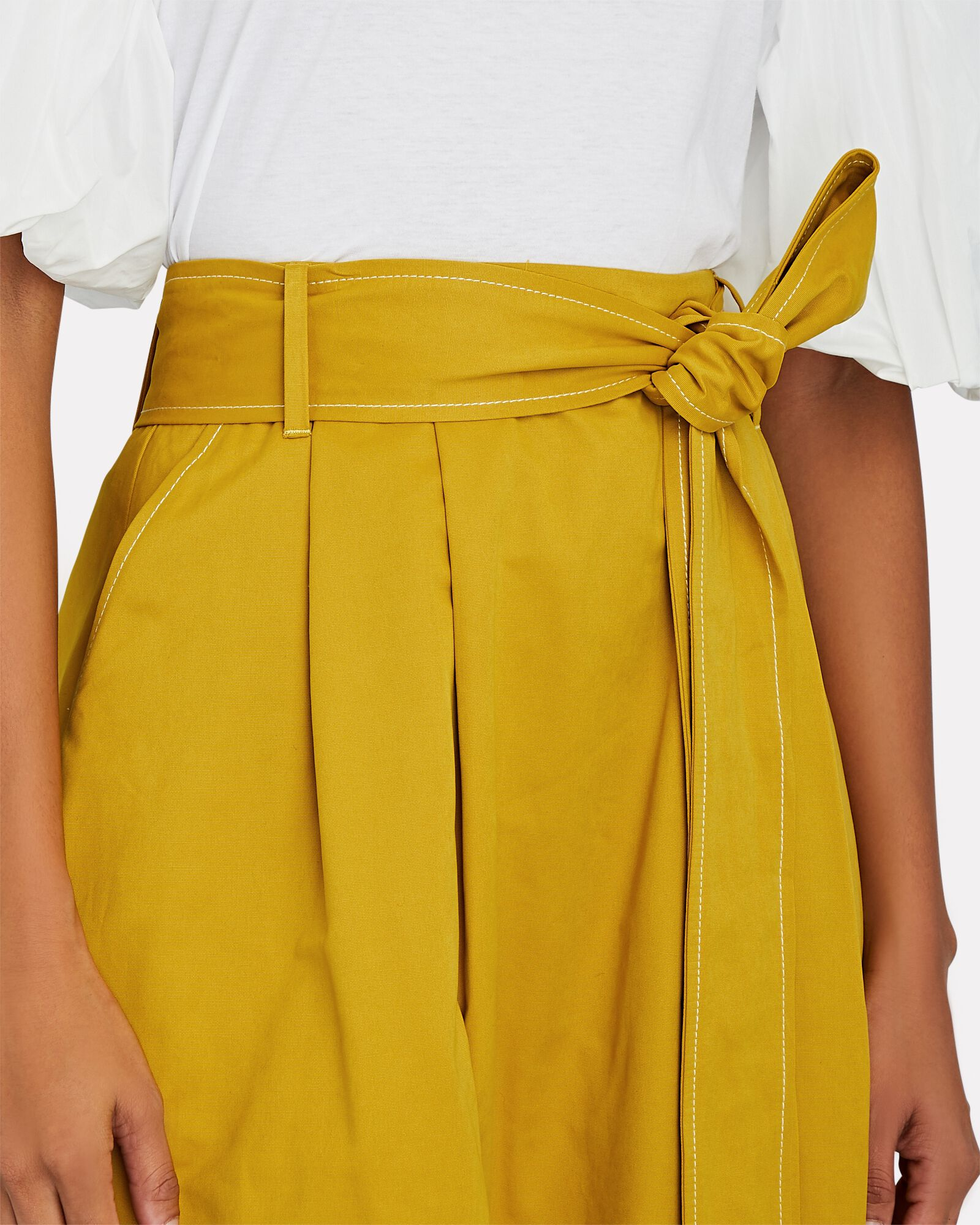 Snoop Belted Midi Skirt, GOLD, hi-res