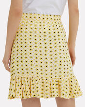 Maize Crepe Skirt, YELLOW/BLACK, hi-res