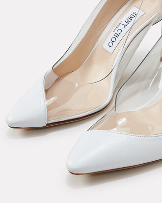 Romy PVC Pumps, WHITE, hi-res