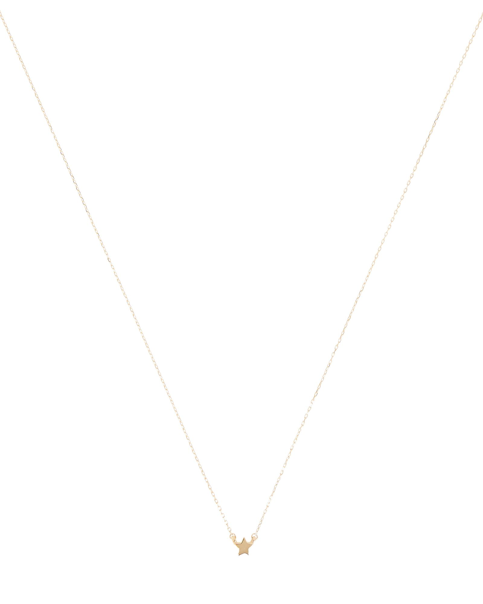 Super Tiny Puffy Star Necklace, GOLD, hi-res
