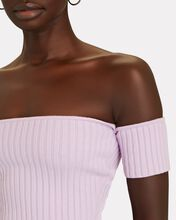 Melodie Off-the-Shoulder Rib Knit Top, LIGHT PURPLE, hi-res
