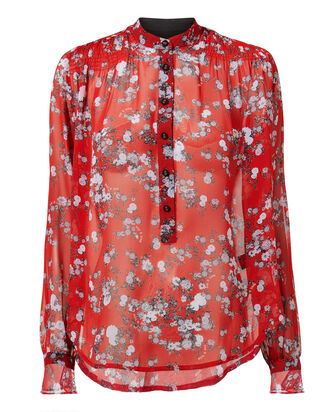 Susan Red Garden Blouse, MULTI, hi-res