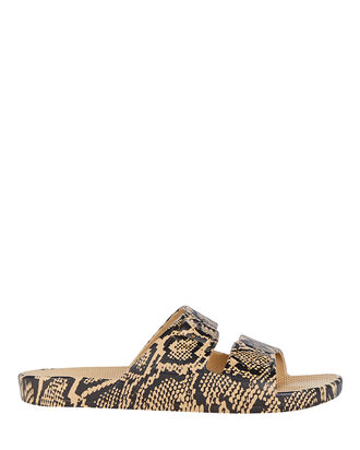 Cobra Sands Moses Two Band Slide, BEIGE/BLACK, hi-res