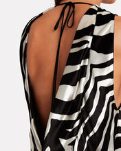 Open Back Draped Velvet Top, IVORY, hi-res