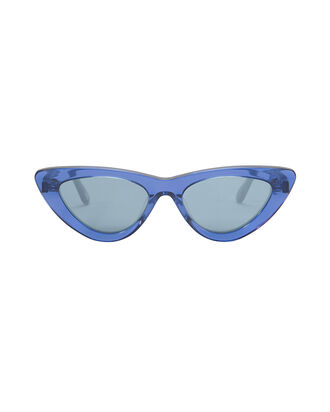 Blue Cat Eye Sunglasses, BLUE-DRK, hi-res
