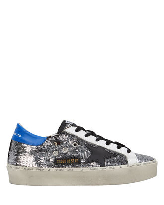 Hi Star Sequin Leather Sneakers, SILVER/BLACK, hi-res