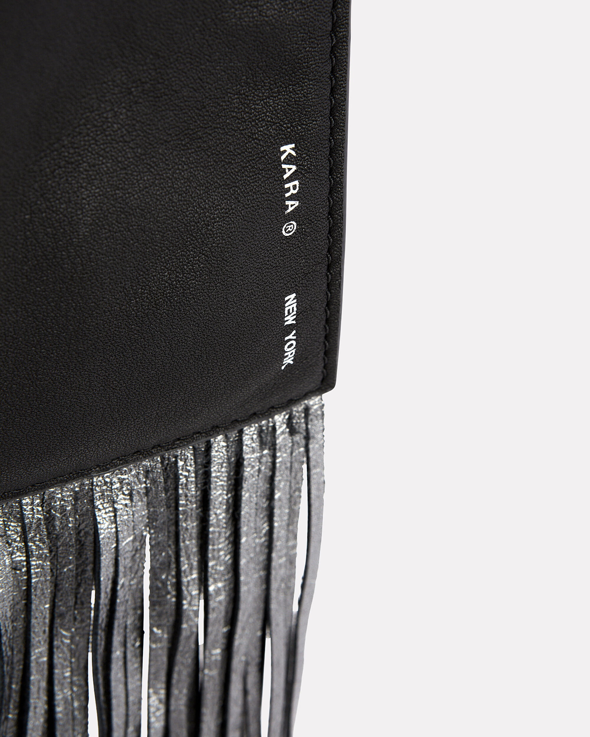 Black Fringe Pouch, BLACK, hi-res