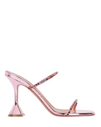 Gilda Metallic Slide Sandals, , hi-res