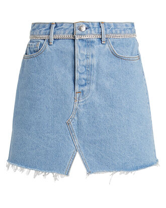 Milla Embellished Denim Mini Skirt, DENIM-LT, hi-res