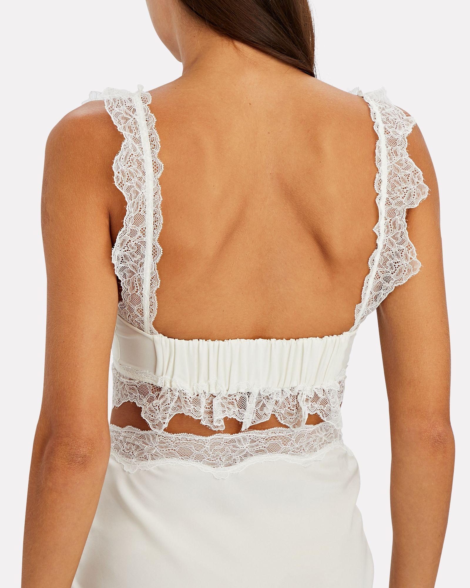 Alma Lace-Trimmed Crop Top, IVORY, hi-res