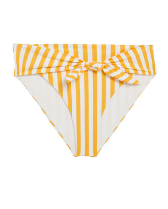 Riviera High-Rise Bikini Bottoms, WHITE/YELLOW/STRIPES, hi-res